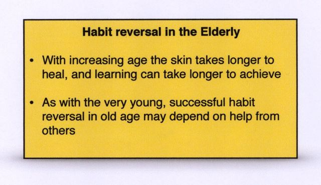 Elderly Habit reversal